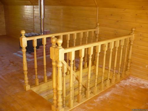 Лестница на второй этаж своими руками из дерева пример с фото